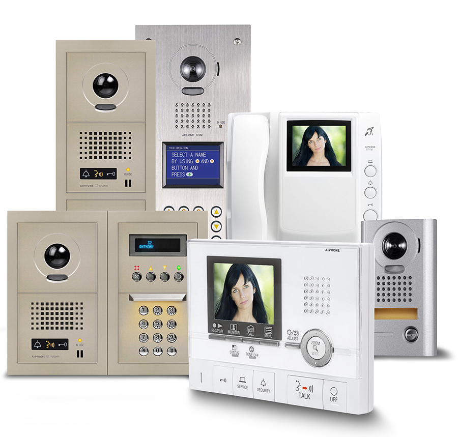AIPHONE GT Color Video Intercom Entry System for Multi ... on entry door intercom wiring-diagram, home intercom wiring-diagram, aiphone intercom wiring-diagram, phone intercom wiring-diagram, apartment telephone wiring,