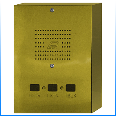 IR-445BR 5-Wire Surface Mount Solid Polished Brass Apartment Intercom Stations